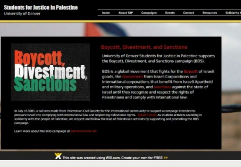 BDS group uses Wix for anti-Israel website